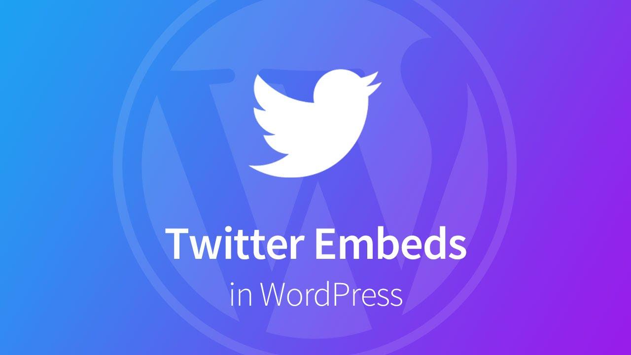 Embed Twitter Feed On Website